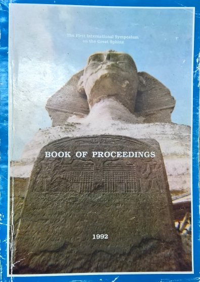 1992 - Sphinx Symposium Proceedings - Some contributions for the preservation of the Sphinx