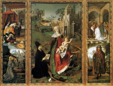 Restoration of the triptyque by Bartolomeo Bermejo.