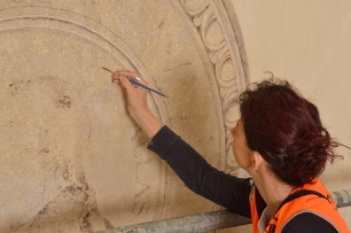 Egyptian Museum, restoration of frescoes and historical plasterwork.